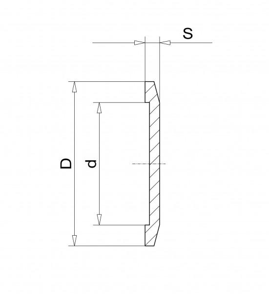 Blindflansch DN 10 KF Edelstahl 1.4301
