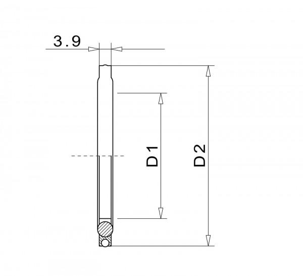 Dichtscheibe DN 250 F NBR Aluminium