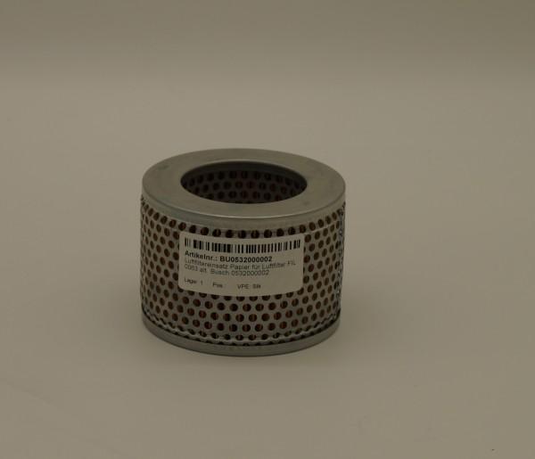 Luftfiltereinsatz Papier für Luftfilter FIL 0063 alt. Busch 0532000002