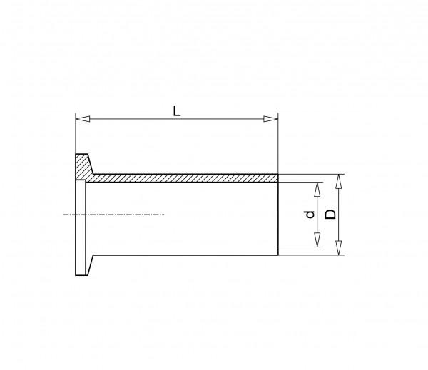 Anschweißflansch DN 10 KF, 70mm Edelstahl