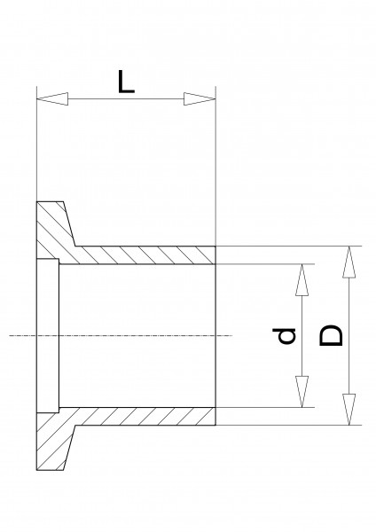 Anschweißflansch DN 50 KF, 20mm Edelstahl