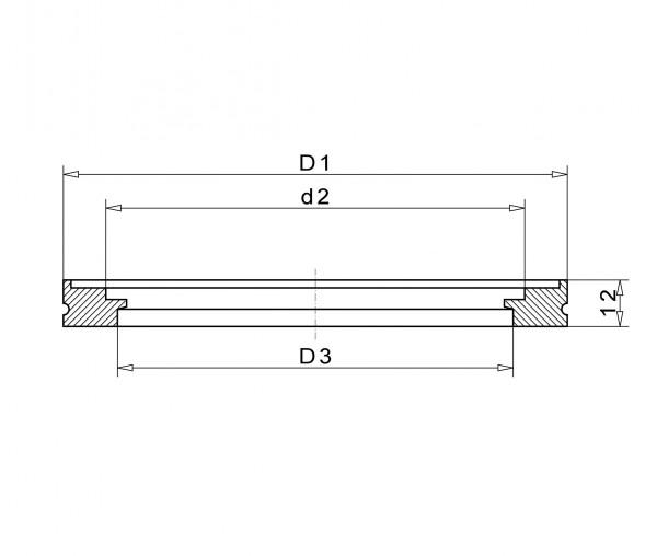 Anschweißflansch DN 200 K, Stahl St37