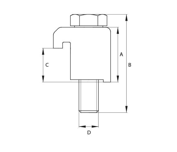 Pratze DN 63-100 K, Grundplatte mit Zentrierring Edelstahl