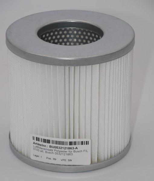 Luftfiltereinsatz Polyester für Busch FIL 0100 alt. Busch 0532121863