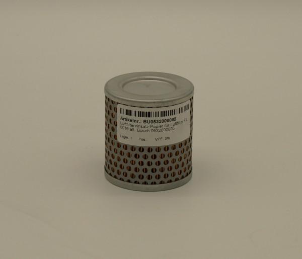Luftfiltereinsatz Papier für Luftfilter FIL 0016 alt. Busch 0532000005