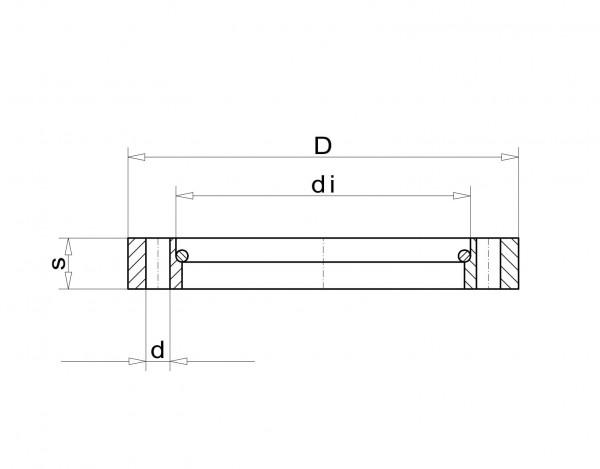 Überwurfflansch DN 160 F, Stahl St37 vernickelt