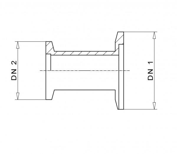 Reduzierstück DN 40/16 KF Aluminium