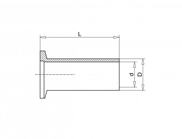 Anschweißflansch DN 25 KF, 70mm Stahl