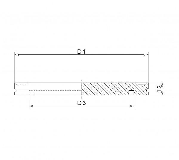 Blindflansch DN 250 Iso- K Stahl vernickelt