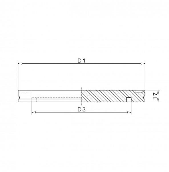 Blindflansch DN 320 K Stahl vernickelt