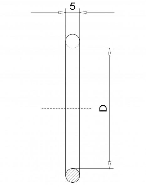 O-Ring DN 25 KF Viton, Satz mit 5 Stk.