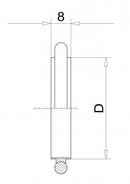 Zentrierring DN 50 KF, innen FPM Aluminium