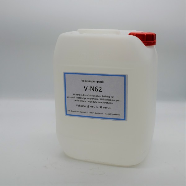 Vakuumpumpenöl V-N62 , Kanister 10 Liter