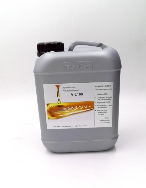 Vakuumpumpenöl V-L100 , für Lebensmittelanwendung, 5 Liter Kanister