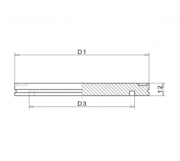 Blindflansch DN 63 K Stahl ST37 vernickelt