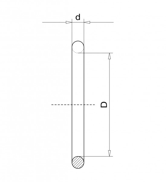 O-Ring DN 630 Iso-K FPM