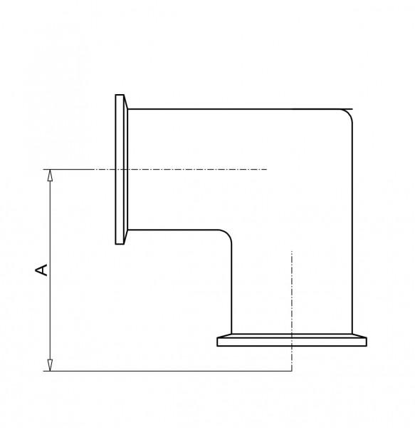 Rohrbogen 90° DN 40 KF Aluminium