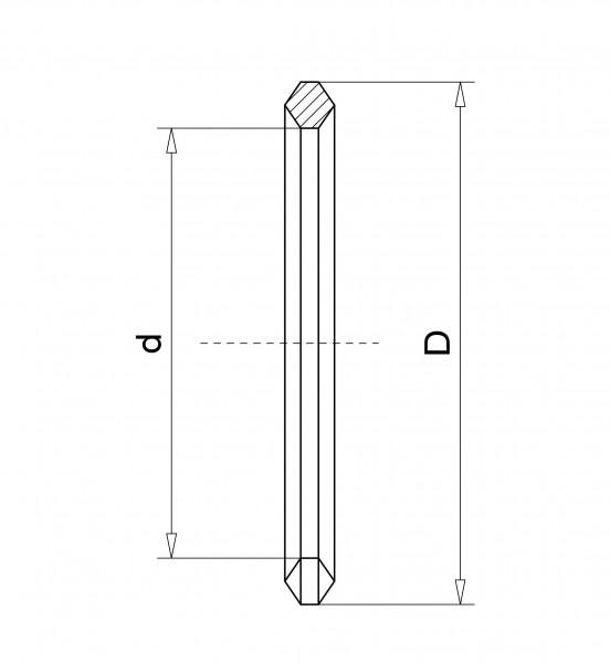 Aluminium-Dichtung DN 25 KF