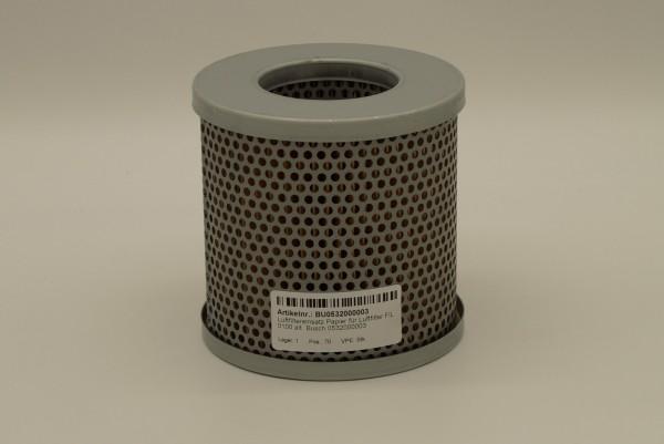Luftfiltereinsatz Papier für Luftfilter FIL 0100 alt. Busch 0532000003